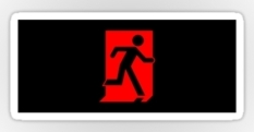 Running Man Fire Safety Exit Sign Emergency Evacuation Sticker Decals 78