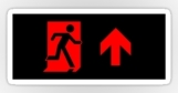 Running Man Fire Safety Exit Sign Emergency Evacuation Sticker Decals 79