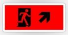 Running Man Fire Safety Exit Sign Emergency Evacuation Sticker Decals 8