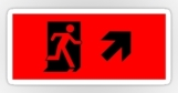 Running Man Fire Safety Exit Sign Emergency Evacuation Sticker Decals 8