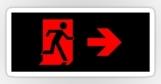 Running Man Fire Safety Exit Sign Emergency Evacuation Sticker Decals 80