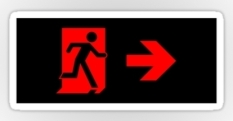 Running Man Fire Safety Exit Sign Emergency Evacuation Sticker Decals 80