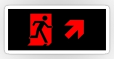 Running Man Fire Safety Exit Sign Emergency Evacuation Sticker Decals 81