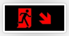 Running Man Fire Safety Exit Sign Emergency Evacuation Sticker Decals 82