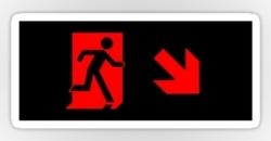 Running Man Fire Safety Exit Sign Emergency Evacuation Sticker Decals 82