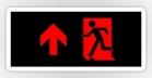 Running Man Fire Safety Exit Sign Emergency Evacuation Sticker Decals 85