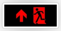 Running Man Fire Safety Exit Sign Emergency Evacuation Sticker Decals 85
