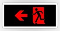 Running Man Fire Safety Exit Sign Emergency Evacuation Sticker Decals 86