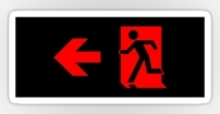 Running Man Fire Safety Exit Sign Emergency Evacuation Sticker Decals 86