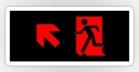 Running Man Fire Safety Exit Sign Emergency Evacuation Sticker Decals 87