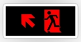 Running Man Fire Safety Exit Sign Emergency Evacuation Sticker Decals 87