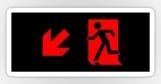 Running Man Fire Safety Exit Sign Emergency Evacuation Sticker Decals 88