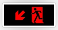 Running Man Fire Safety Exit Sign Emergency Evacuation Sticker Decals 88