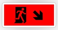Running Man Fire Safety Exit Sign Emergency Evacuation Sticker Decals 9