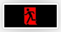 Running Man Fire Safety Exit Sign Emergency Evacuation Sticker Decals 90