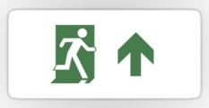Running Man Fire Safety Exit Sign Emergency Evacuation Sticker Decals 91