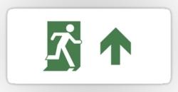 Running Man Fire Safety Exit Sign Emergency Evacuation Sticker Decals 91