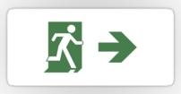 Running Man Fire Safety Exit Sign Emergency Evacuation Sticker Decals 92
