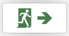 Running Man Fire Safety Exit Sign Emergency Evacuation Sticker Decals 92