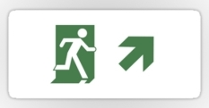 Running Man Fire Safety Exit Sign Emergency Evacuation Sticker Decals 93