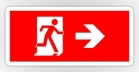 Running Man Fire Safety Exit Sign Emergency Evacuation Sticker Decals 94