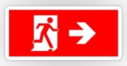 Running Man Fire Safety Exit Sign Emergency Evacuation Sticker Decals 94