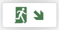 Running Man Fire Safety Exit Sign Emergency Evacuation Sticker Decals 95
