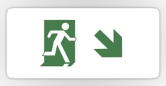 Running Man Fire Safety Exit Sign Emergency Evacuation Sticker Decals 95