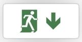 Running Man Fire Safety Exit Sign Emergency Evacuation Sticker Decals 96