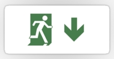 Running Man Fire Safety Exit Sign Emergency Evacuation Sticker Decals 96