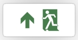 Running Man Fire Safety Exit Sign Emergency Evacuation Sticker Decals 98