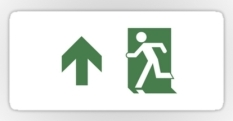Running Man Fire Safety Exit Sign Emergency Evacuation Sticker Decals 98