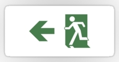 Running Man Fire Safety Exit Sign Emergency Evacuation Sticker Decals 99