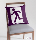 Running Man Fire Safety Exit Sign Emergency Evacuation Throw Pillow Cushion 102