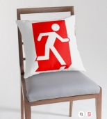Running Man Fire Safety Exit Sign Emergency Evacuation Throw Pillow Cushion 103