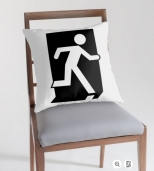 Running Man Fire Safety Exit Sign Emergency Evacuation Throw Pillow Cushion 107