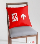 Running Man Fire Safety Exit Sign Emergency Evacuation Throw Pillow Cushion 112