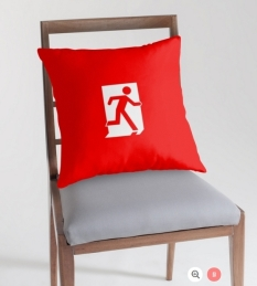 Running Man Fire Safety Exit Sign Emergency Evacuation Throw Pillow Cushion 114