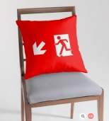 Running Man Fire Safety Exit Sign Emergency Evacuation Throw Pillow Cushion 118