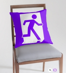 Running Man Fire Safety Exit Sign Emergency Evacuation Throw Pillow Cushion 12