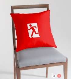 Running Man Fire Safety Exit Sign Emergency Evacuation Throw Pillow Cushion 120