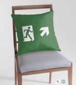 Running Man Fire Safety Exit Sign Emergency Evacuation Throw Pillow Cushion 125