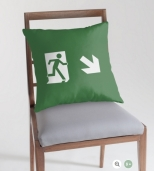 Running Man Fire Safety Exit Sign Emergency Evacuation Throw Pillow Cushion 126