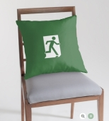 Running Man Fire Safety Exit Sign Emergency Evacuation Throw Pillow Cushion 128