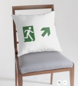 Running Man Fire Safety Exit Sign Emergency Evacuation Throw Pillow Cushion 13