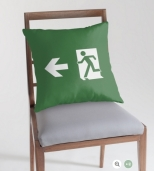 Running Man Fire Safety Exit Sign Emergency Evacuation Throw Pillow Cushion 130