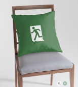 Running Man Fire Safety Exit Sign Emergency Evacuation Throw Pillow Cushion 135