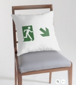 Running Man Fire Safety Exit Sign Emergency Evacuation Throw Pillow Cushion 14
