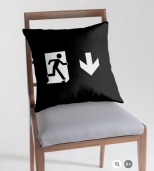 Running Man Fire Safety Exit Sign Emergency Evacuation Throw Pillow Cushion 140