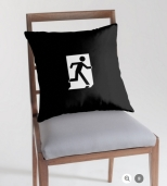 Running Man Fire Safety Exit Sign Emergency Evacuation Throw Pillow Cushion 141